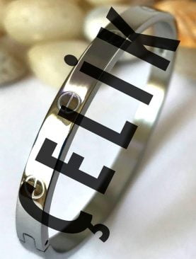 Kartier %100 Çelik Kelepçe Bileklik Gümüş Renk