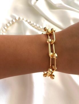 Kadın Premium Kalite Blanca Tifany Gold Zincir Bileklik