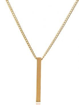 Çubuk Altın Kaplama Kolye 70 Cm