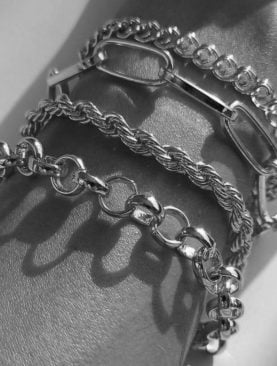 Kadın Gümüş İtalyan Zincirli Burgulu Kombin Bileklik