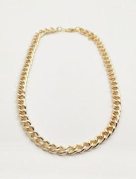 Kalın Zincir cadena Kolye Altın Sarısı Renk