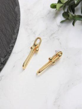Kadın Gold Kaplama Toplu Kalın Zincir Tiffany Blanca Küpe
